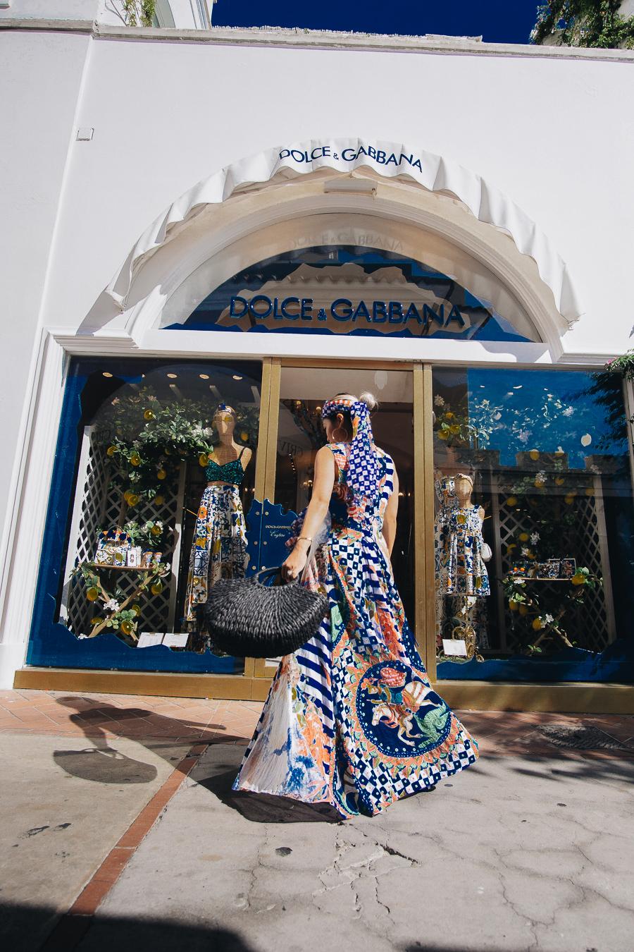 Muliticolored Dolce and Gabbana Dress